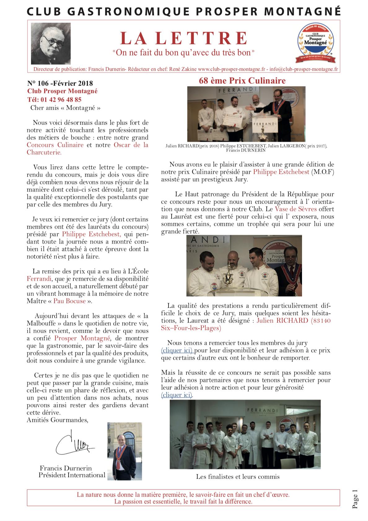 Newsletter février