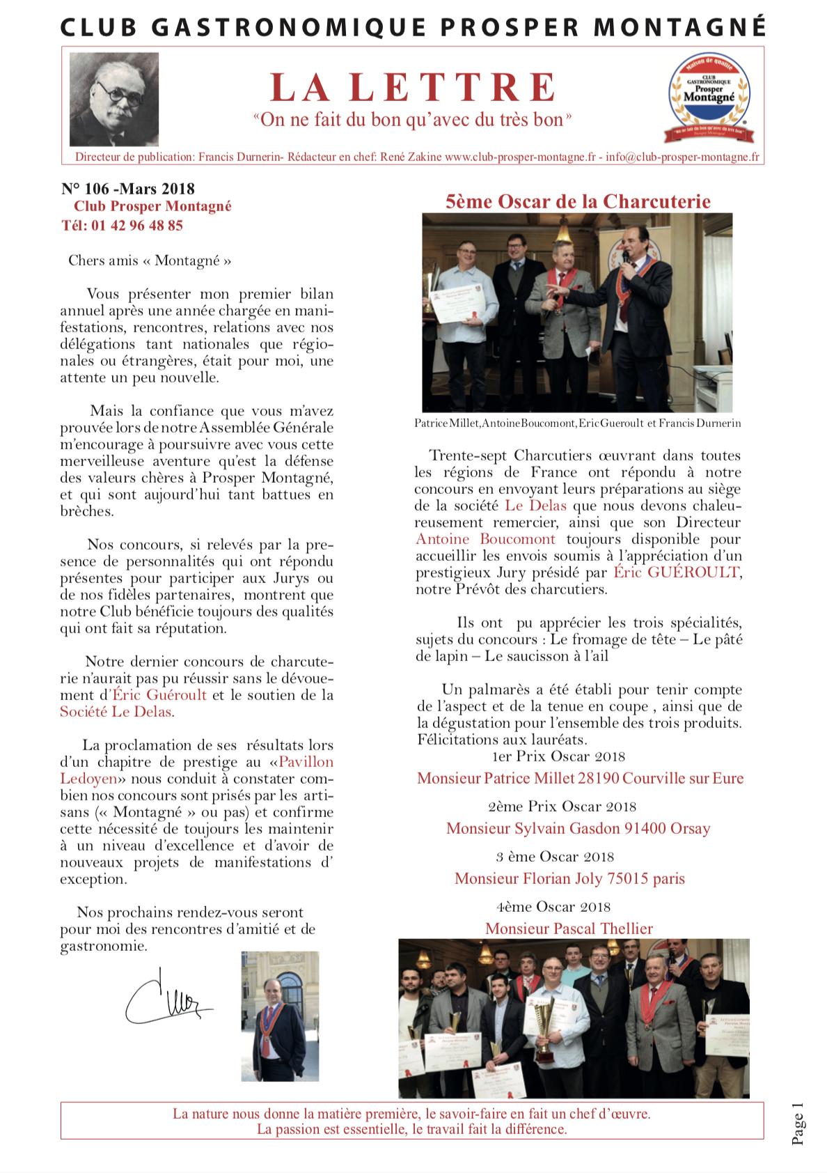 Newsletter mars