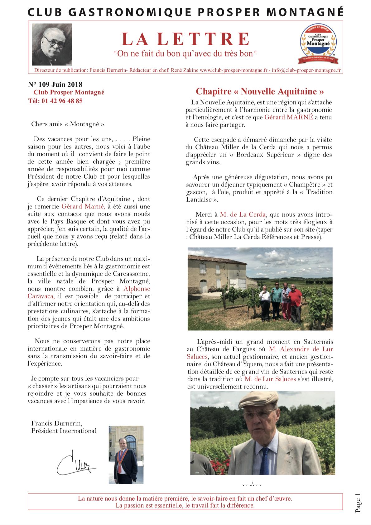 Newsletter juin