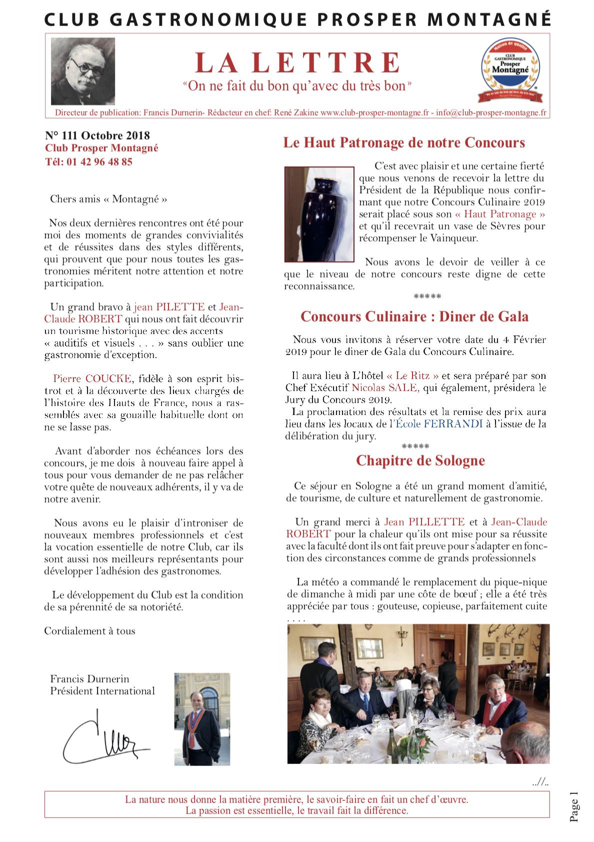 Newsletter octobre