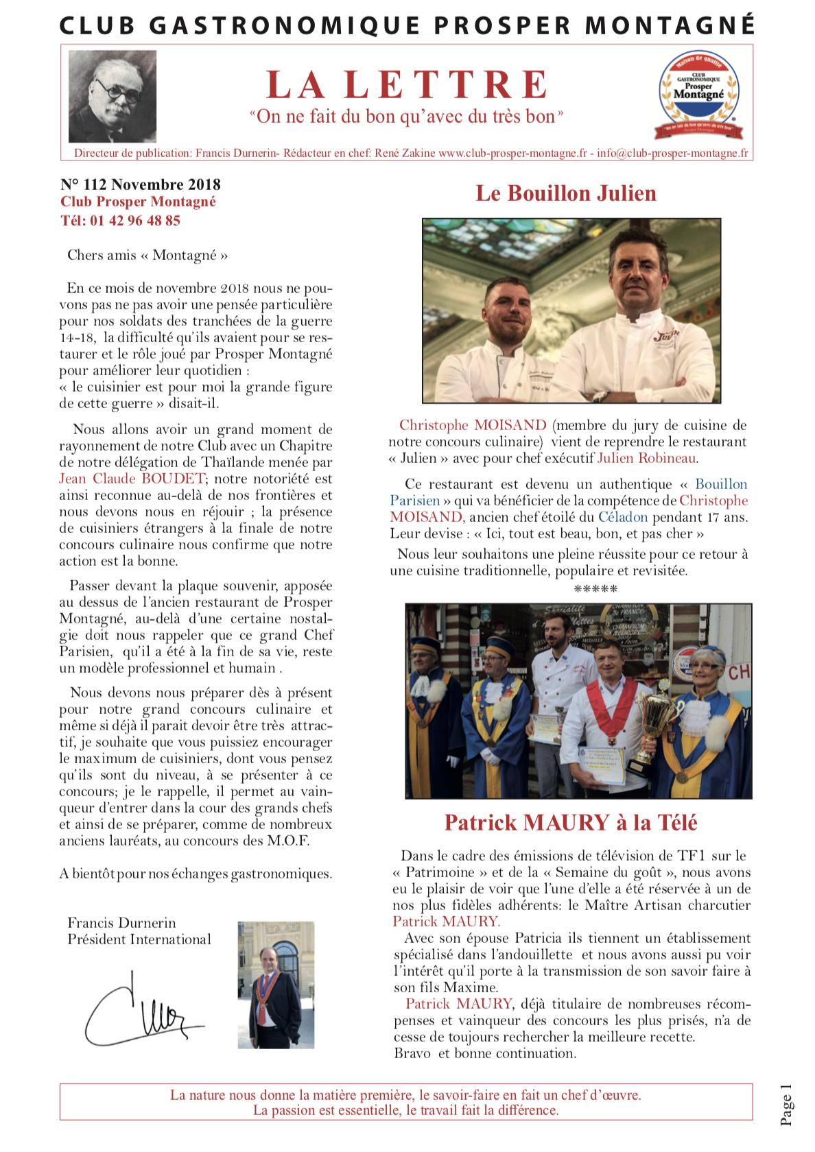 Newsletter novembre